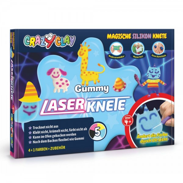 CrazyClay Gummy Laserknete Set