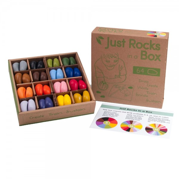 Crayon Rocks in Box (16 Farben / 64 Stk.)