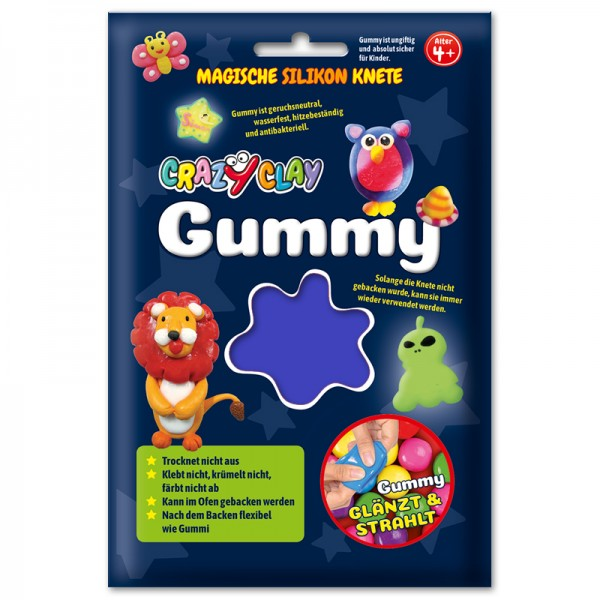CrazyClay Gummy Einzelfarben Basic blau