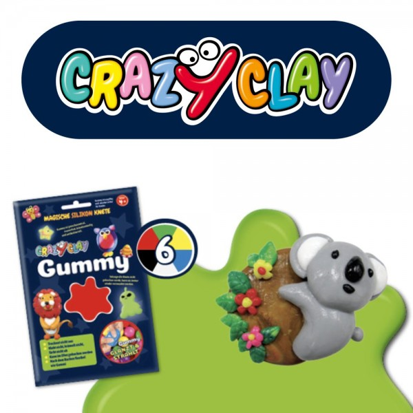 CrazyClay Gummy Einzelfarben Basic rot
