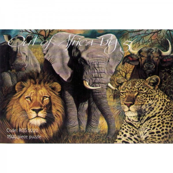 Puzzle Out of Africa Big 5 1500 Teile